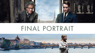 Netflix box art for Final Portrait